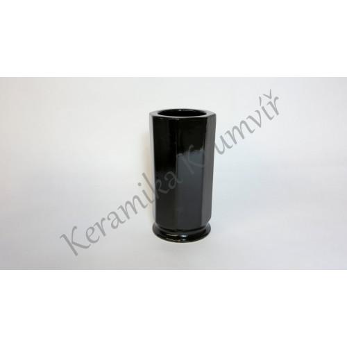 Váza KK 31 Černá lesklá