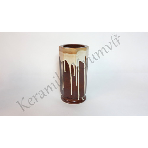Váza KK 31 Hnědá polévaná