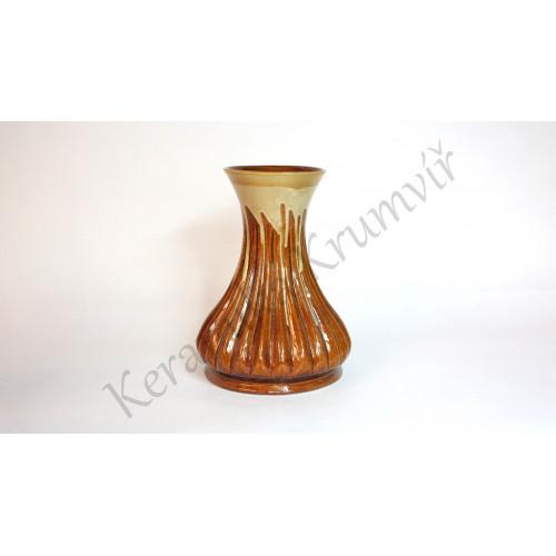 Váza KK 3011 Hnědá polévaná