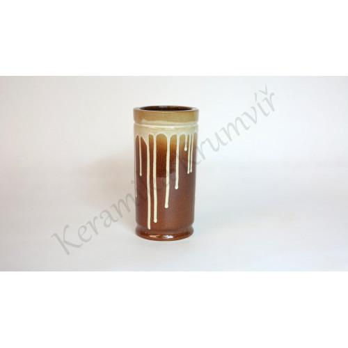 Váza KK 32 Hnědá polévaná