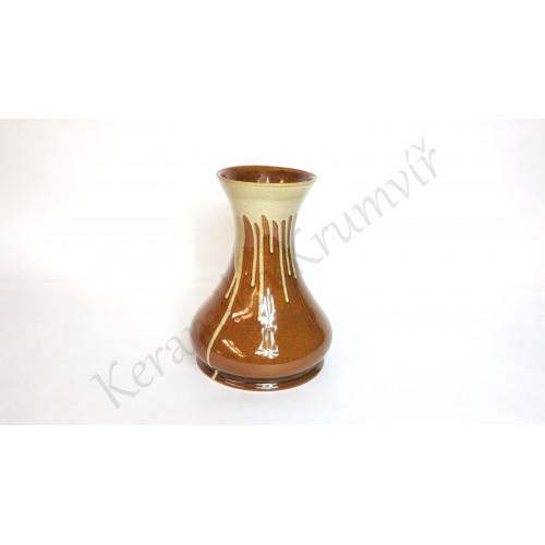 Váza KK 322 Hnědá polévaná