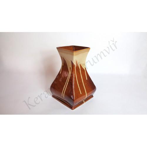 Váza KK 322H Hnědá polévaná